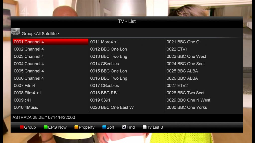 Channel List - MYTV ie professional satellite&aerial TV